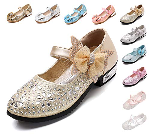 Kikiz Little Girl's Princess Dress Shoes Kids Mary Jane 12 M US Little Kid]()