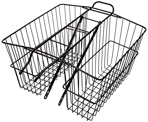 (Wald 535 Rear Large Twin Basket (Black, 18X7.5X12))