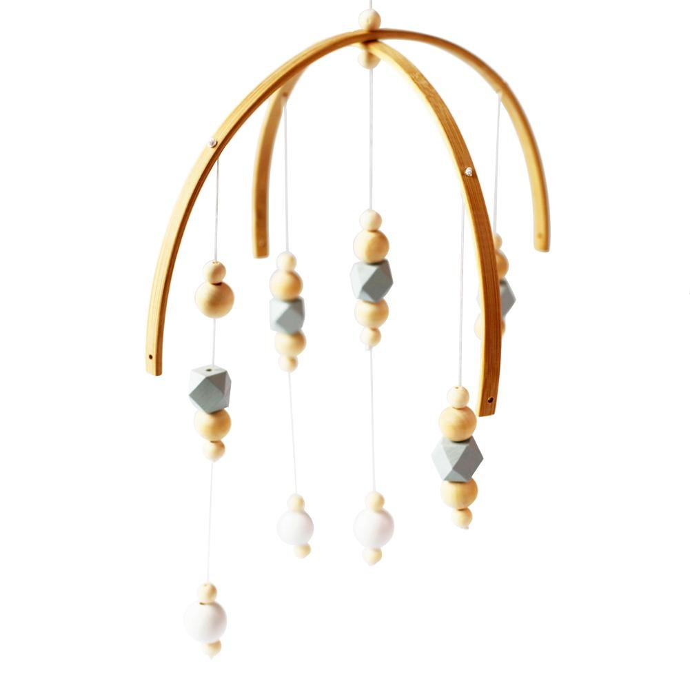 StageOnline Nordique Ménage Handcrafted Bébé Mobile Perles en Bois Aeolian Bells pour Chambre d'enfants Chambre Modèle Magasin De Vêtements 未知品牌