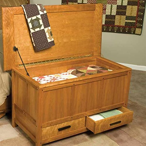 Woodworking Project Paper Plan to Build Arts & Crafts Blanket Chest - Crafts Blanket Chest