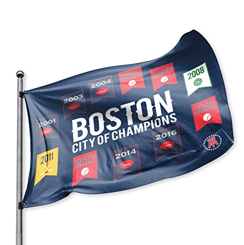 College Flag - Barstool Sports Boston City of Champions Flag, 3x5 Foot, Tailgating, Party, College, Sports Fan: Football Basketball Baseball Hockey