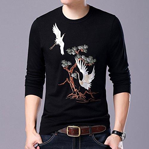 OME&QIUMEI Herren Pullover Pullover  Herren Gerade Pullover