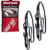 Dorsal Wrap-Rax Deluxe Double Soft Rack Pads and Straps Convenient For Surfboards, Kayaks, and SUP Boards, Prevents Load Scrape & Cut, Waterproof, Secure Mounting & Stress Free Removal