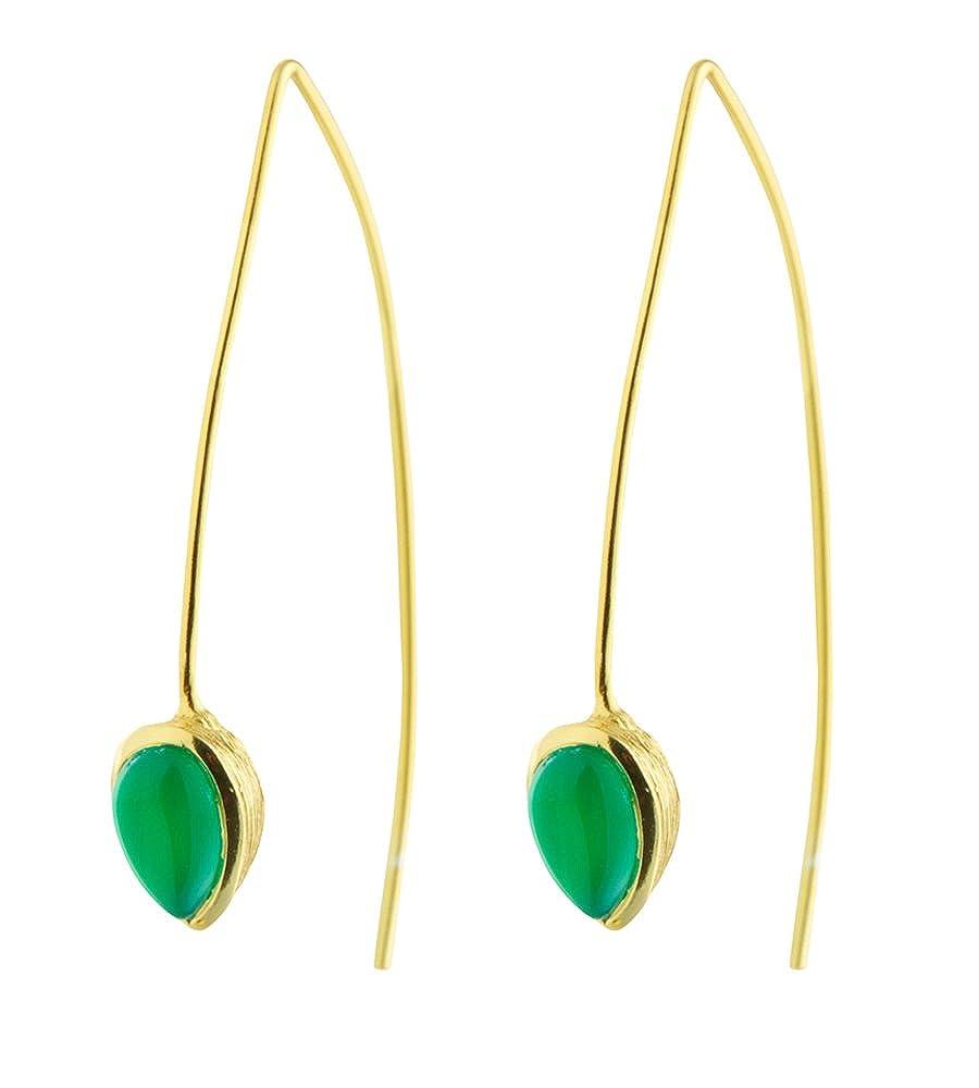 DV Jewels Green Onyx Seadrop Earrings
