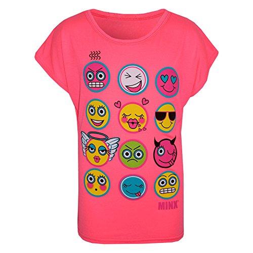 Kids Girls T Shirt Emoji Print Stylish Trendy Fashion Top New Age 7-13 Years (2)