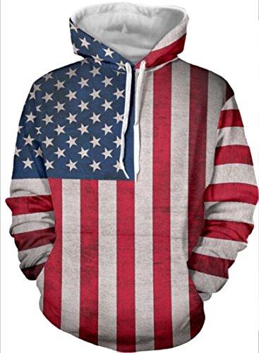 Hoodies Unisex Printed Pullovers Sweatshirt