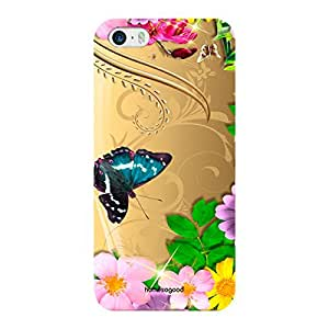 HomeSoGood Flowers Attracting Butterfly Multicolor 3D Mobile Case For iPhone 5 / 5S (Back Cover)