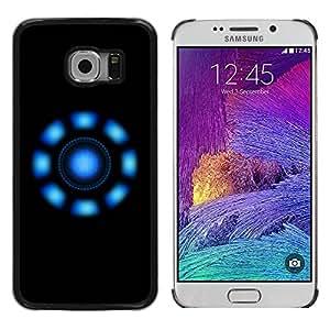 PC/Aluminum Funda Carcasa protectora para Samsung Galaxy S6 EDGE SM-G925 Blue Lights / JUSTGO PHONE PROTECTOR