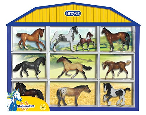 Breyer Stablemates Horse Shadow Box Ten Horse Set (1: 32 Scale)