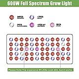 Phlizon Newest 600W LED Plant Grow Light,with