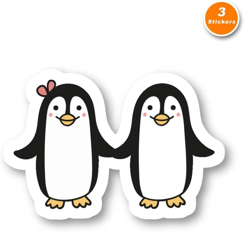 Penguins Sticker Relationship Goals Stickers - 3 Pack - Set of 2.5, 3 and 4 Inch Laptop Stickers - for Laptop, Phone, Water Bottle (3 Pack) S214542