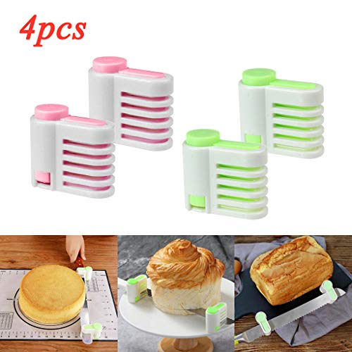 MChoice❤️DIY Kitchen Tool Cake Bread Leveler 5 Layer Slicer Cutting Fixator GR (4PC)