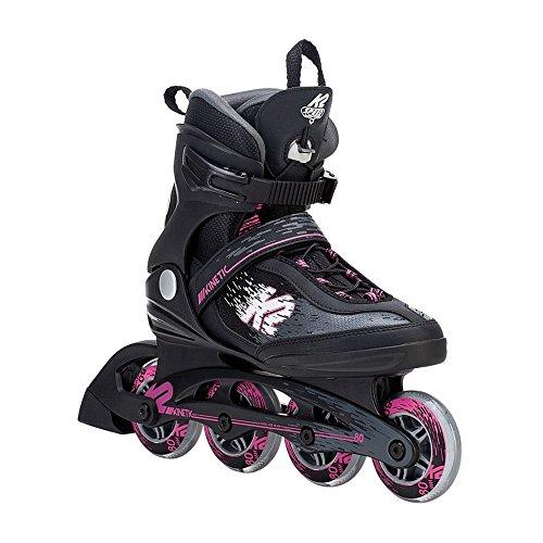 K2 Skate Women's Kinetic 80 Pro Inline Skate, Black Pink, - Roller K2 Skates Women