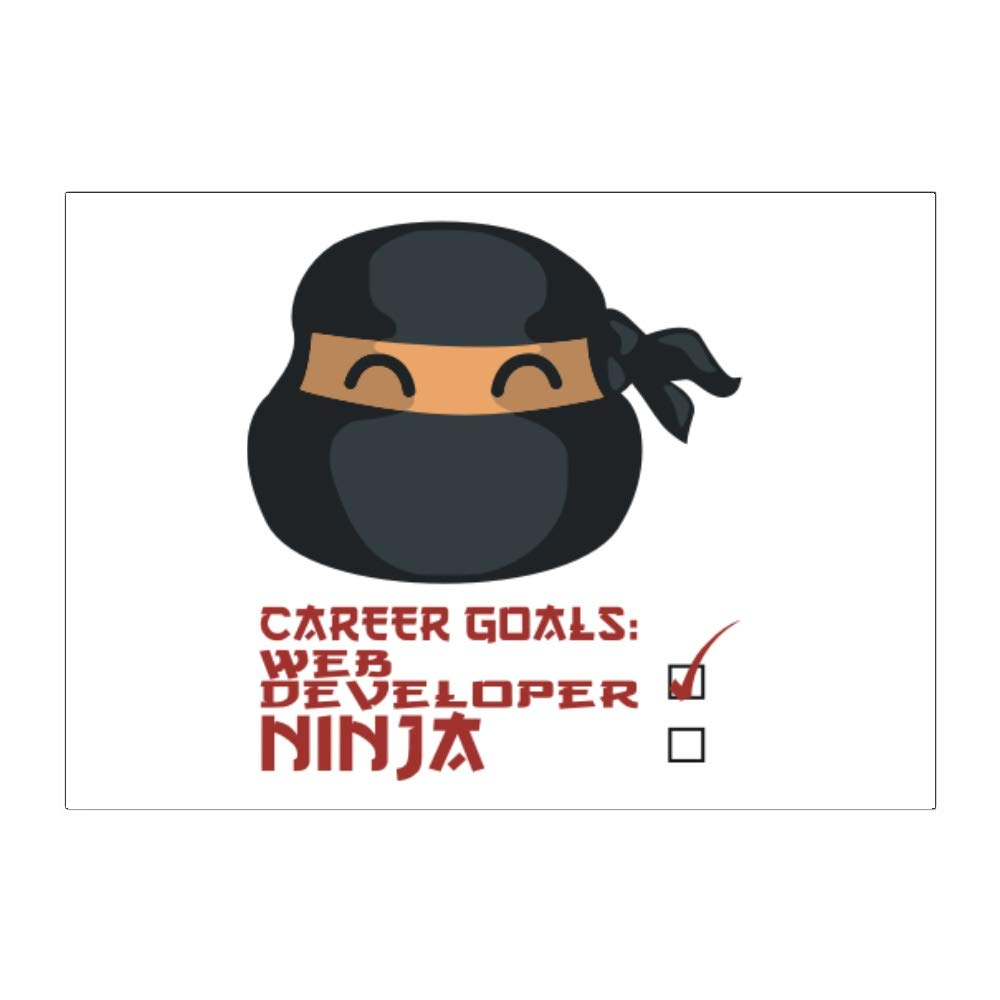 Amazon.com: Teeburon Career Goals Web Developer Ninja Face ...