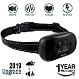 ZENNO No Bark Collar for Small, Medium, Large Dogs - 2019 Upgraded - Stop Barking Collar with Vibration and Sound - Humane and Safe for Dogs and 100 Percent  Waterproof Design