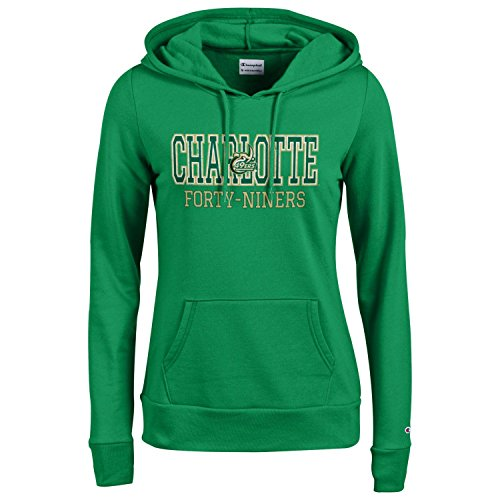 Unc Charlotte Football Team - Champion NCAA Women's Comfy Fitted Sweatshirt University Fleece Hoodie Charlotte 49ers Small