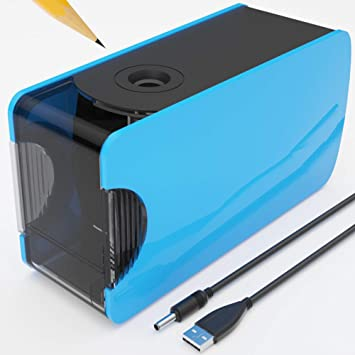 Electric Pencil Sharpener for Kids Auto Stop and Fast Smart Cutting No.2 Pencil Colored Pencil
