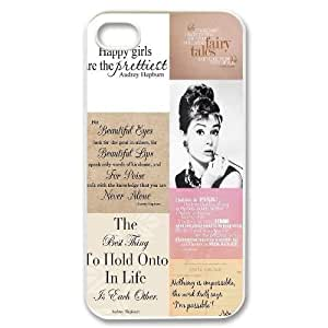Audrey Hepburn Quotes Unique Fashion Printing Phone Case for Iphone 4,4S,personalized cover case ygtg-782252