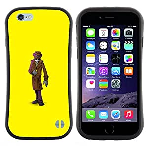 "Pulsar iFace Series Tpu silicona Carcasa Funda Case para Apple (4.7 inches!!!) iPhone 6 Plus / 6S Plus ( 5.5 ) , Mystery Man Suit Cartoon"""