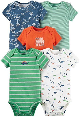 Chicos New Shirt - Carter's Baby Boys' Multi-pk Bodysuits 126g333, Green Dino, New Born