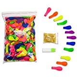 TOAOB 500 Water Balloons Refill Kit Water Balloon Rubber and Bands Straws