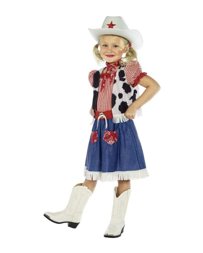 Horror-Shop Freches Cowgirl Kinderkostüm S 115-128