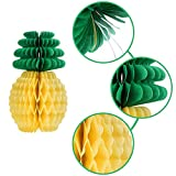 Maxdot 12 Pack Pineapple Honeycomb Centerpieces Tissue Paper Pineapple 8 Inch Party Supplies Table Hanging Decoration Hawaiian Luau Party Birthday Wedding Home Favor
