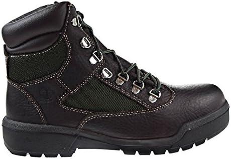 Timberland 6 Inch Field Waterproof Mens Boots Dark Brown tb0a1nlf