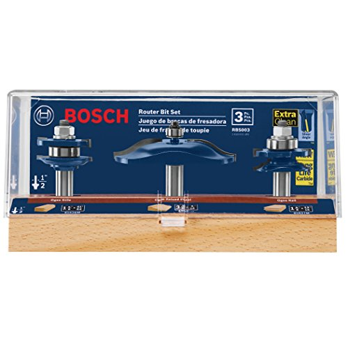 Bosch RBS003 3-Piece Ogee Door/Cabinetry Set 1/2 In.-Shank