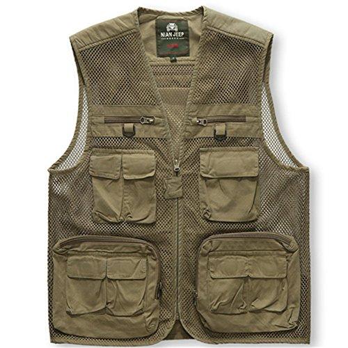 Wardrobe King Casual Long Sleeve Jacket Fishing Hunting Waistcoat Hiking Coat for Men