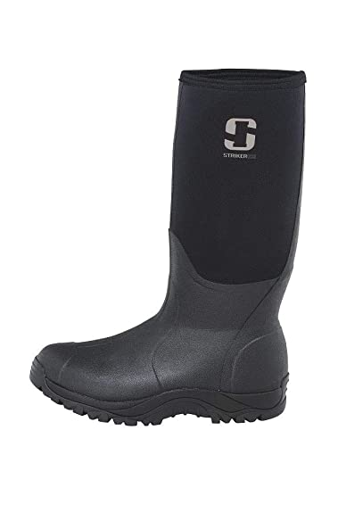 Striker Ice Mens Rubber Boot, Black, 13