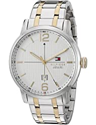 Tommy Hilfiger Mens 1791214 George Analog Display Japanese Quartz Silver Watch