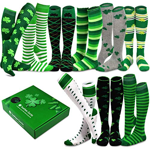 TeeHee Special (Holiday) Women Knee High 9-Pairs Socks with Gift Box (Patrick)