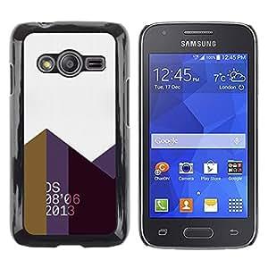 Shell-Star Arte & diseño plástico duro Fundas Cover Cubre Hard Case Cover para Samsung Galaxy Ace4 / Galaxy Ace 4 LTE / SM-G313F ( 2013 Abstract Polygon Art Mountains )