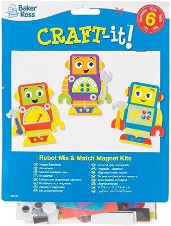 Baker Ross Kits de imanes combinables de Robots Que los niños ...