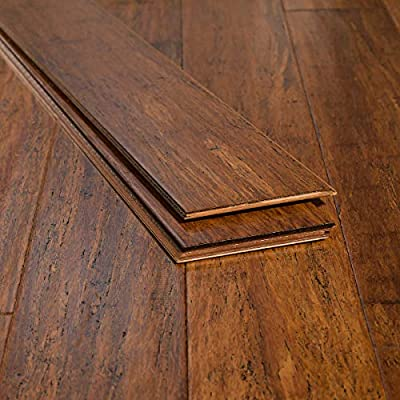 Ambient Bamboo - Bamboo Flooring Sample, Color: Carbonized Antiqued, Engineered Click Lock