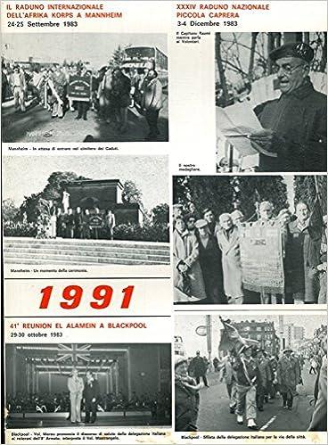 1990 Calendario.Raduni Reduci 2a Guerra Mondiale Calendario 1991 N A