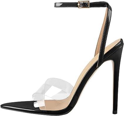 Women/'s Straps Summer Slippers High Heels Stiletto Sandals Ladies Peep Toe Shoes