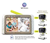 MoonyBaby Split Screen, Wide Angle, Two Cameras System Video Baby Monitor with Automatic