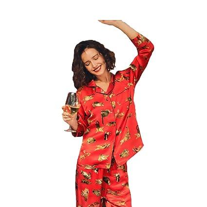 02d06ff43bb8 Amazon.com  Sleep   Lounge Ladies  Pajamas Leisure Nightwear Long ...
