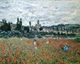 'Poppy Field Near Vetheuil, 1879 By Claude Monet' Oil Painting, 24x30 Inch / 61x77 Cm ,printed On Perfect Effect Canvas ,this High Definition Art Decorative Canvas Prints Is Perfectly Suitalbe For Bathroom Gallery Art And Home Gallery Art And Gifts