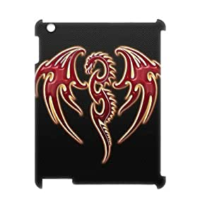 ALICASE Diy Cover Custom Case Red Dragon For IPad 2,3,4 [Pattern-1]