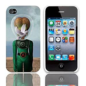 ZMY Caso extraterrestre Diseño duro con paquete de 3 protectores de pantalla para iPhone 4/4S