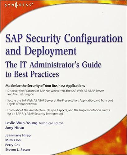 SAP Security Configuration Deployment Administrators