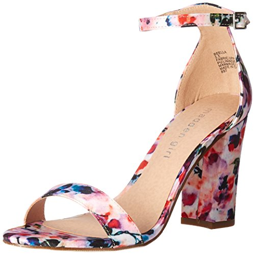 Madden Girl Women's Beella Dress Sandal, Floral Multi, 8 M US ()