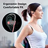 Bluetooth Headphones, LETSCOM Wireless Earbuds IPX7 Waterproof Noise Cancelling Headsets, Richer Bass & HiFi Stereo Sports Earphones 8 Hours Playtime Running Headphones with Travel Case