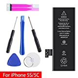 GOGO ROADLESS iPhone 5S & 5C Battery Replacement, Complete Repair Tools Kit & Adhesive, High Capacity(1560mAh) Battery for iPhone 5S & 5C - [12-Month Warranty] …