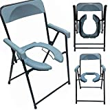 COMMODE CHAIR FOLDABLE FRONT CUT (HEAVY DUTY IMPORTED) WEIGHT CAPACITY 125 KG