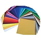 "Arts & Crafts : Ultimate Oracal 651 Starter Pack 63 Glossy Self Adhesive Vinyl Sheets (12"" x 12"", 63 Assortment)"