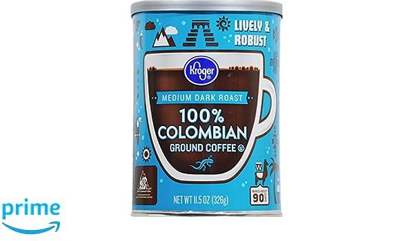 Amazon com : Kroger Medium Dark Roast Coffee - 100